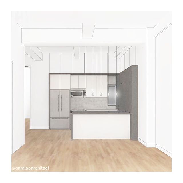 one of the most common requests from new clients is to open up their kitchen for a brighter + more open living space -- here's an example from a project in the flatiron area #ontheboards ➡️swipe➡️ for a photo of the existing space . . . . . . . #firstpost #newyorkcity #architect #nycarchitect #interiordesign #renovation #kitchen #kitchendesign #kitchenreno #realestate #rendering #design #realestate #nycrealestate #nycdesign #chelsea #flatiron