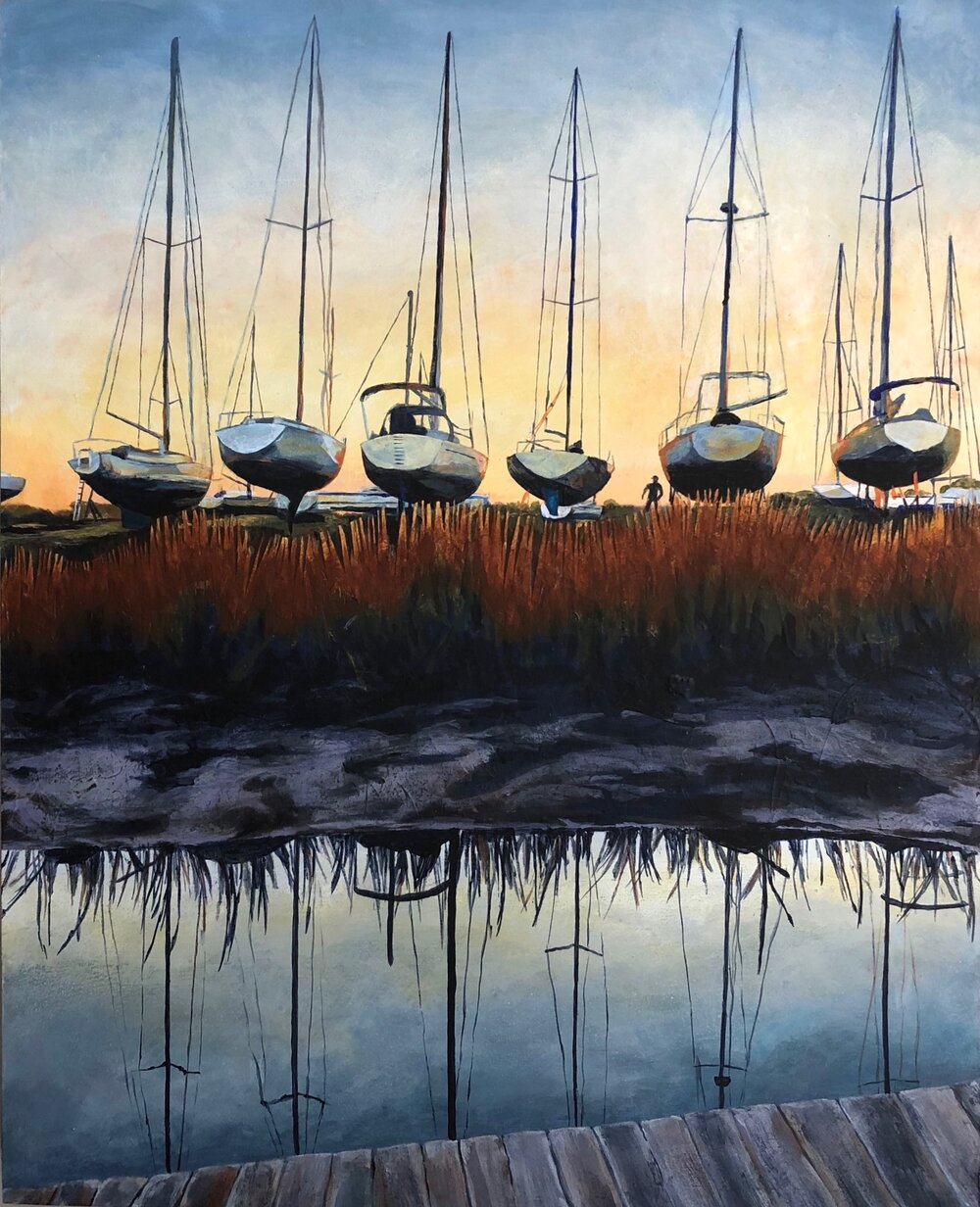 Sailboats on the Hard