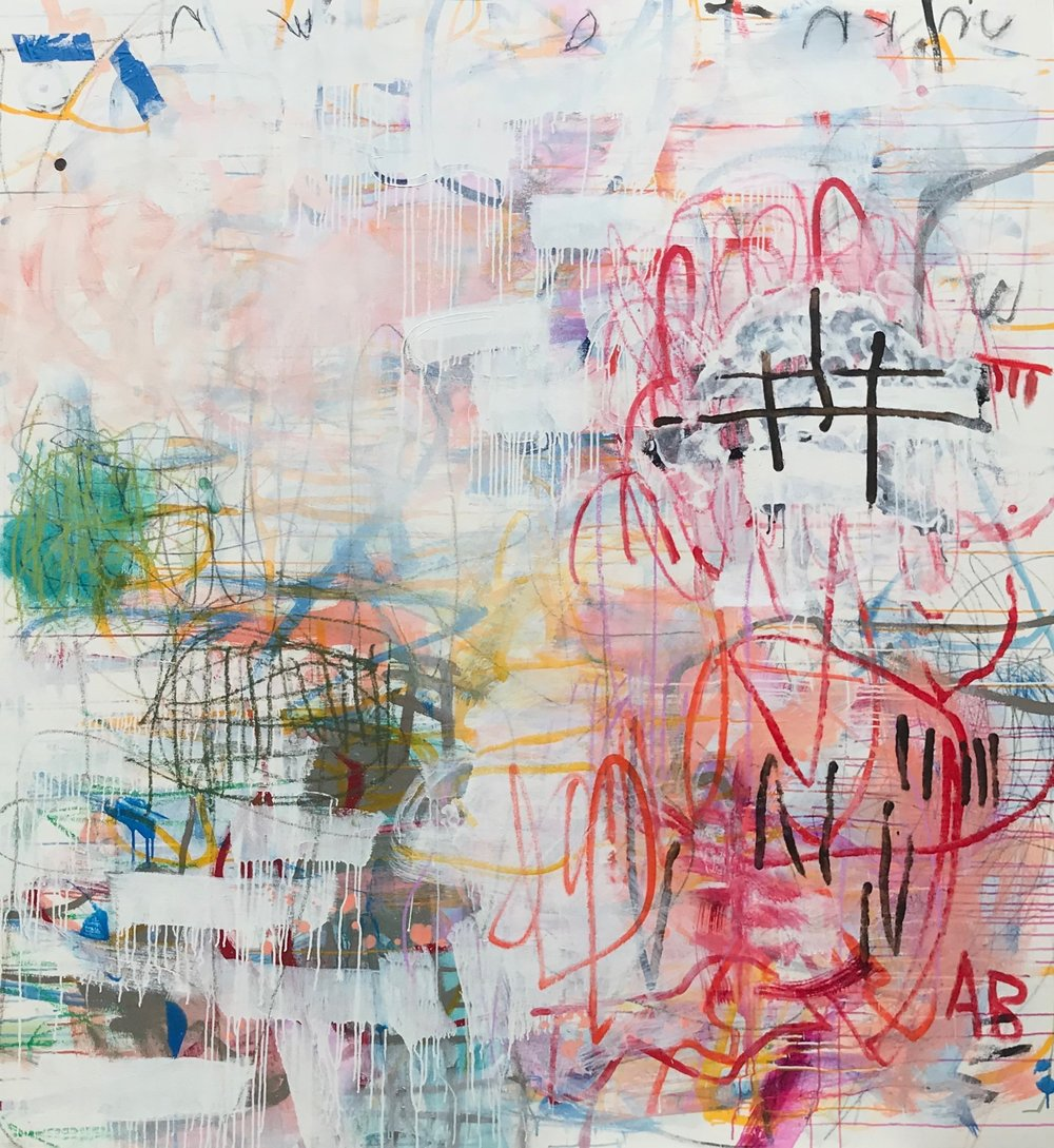 Terry Tsu I AM CERTAIN OF NOTHING 76 x 70 mixed media on canvas