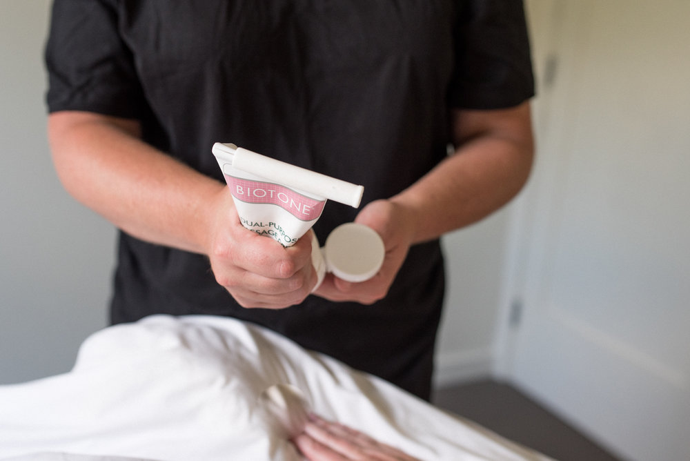 Clinical - Clinical, or rehabilitation massage, is used to treat those patients that have unhealthy muscle tissue due to injury, overuse, and/or trauma. The therapist utilizes trigger point therapy and/or strain counterstrain to address trigger points or tender points found in the tissue.