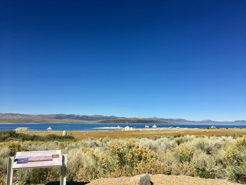 View of Mono Lake from the south shore.