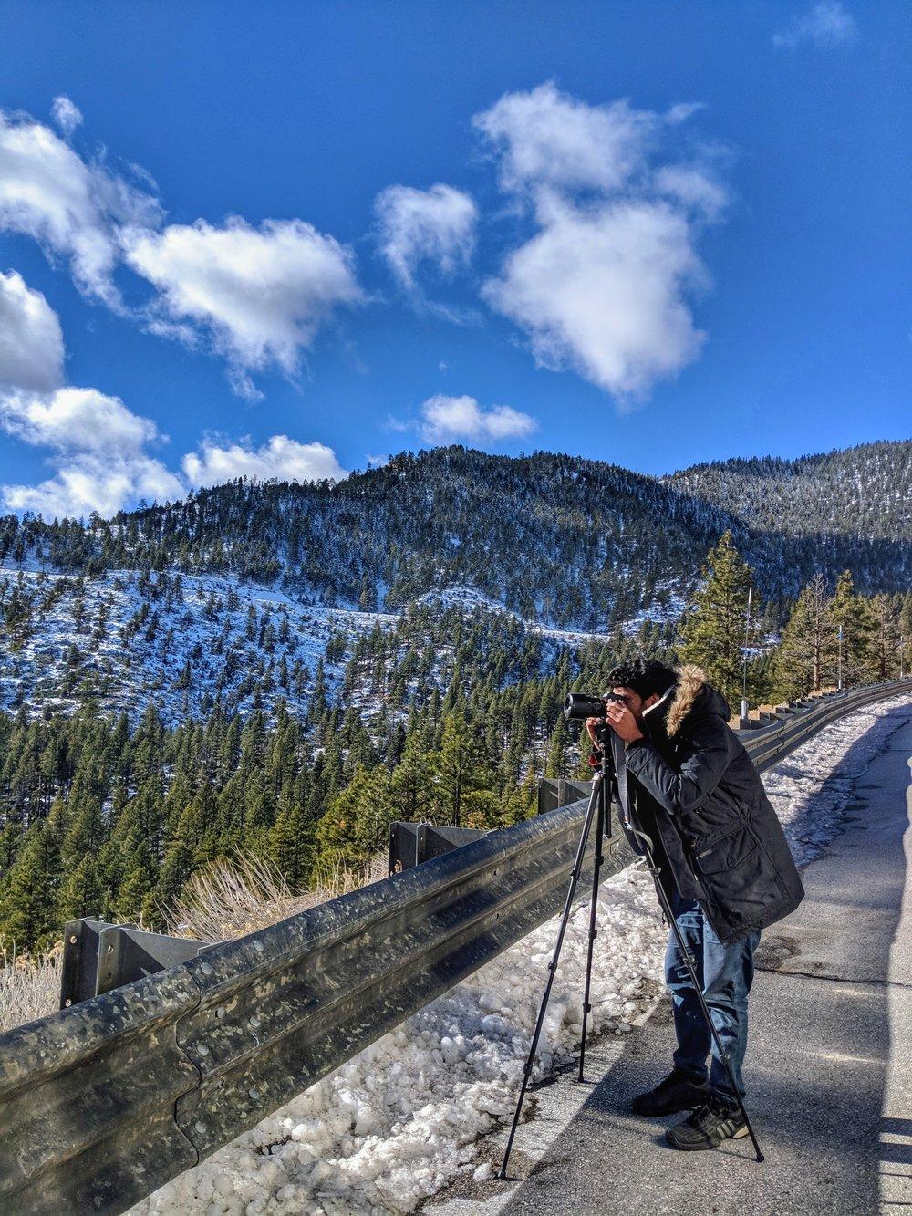 Shakir capturing one of the many breathtaking views around every corner!