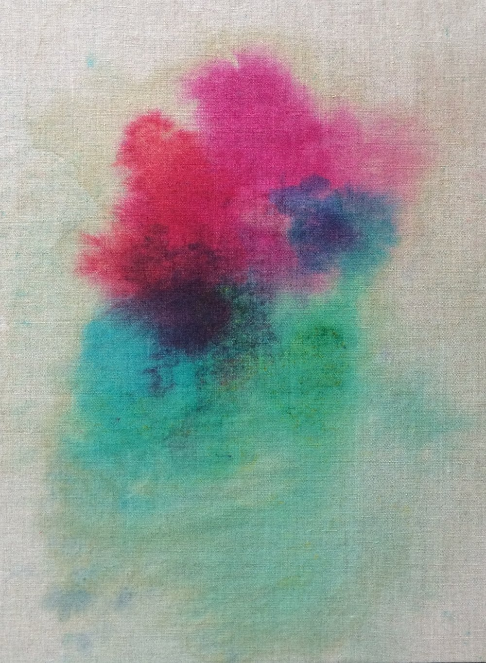 Fabric dye on unprimed canvas Buy $250 Rent $80 week