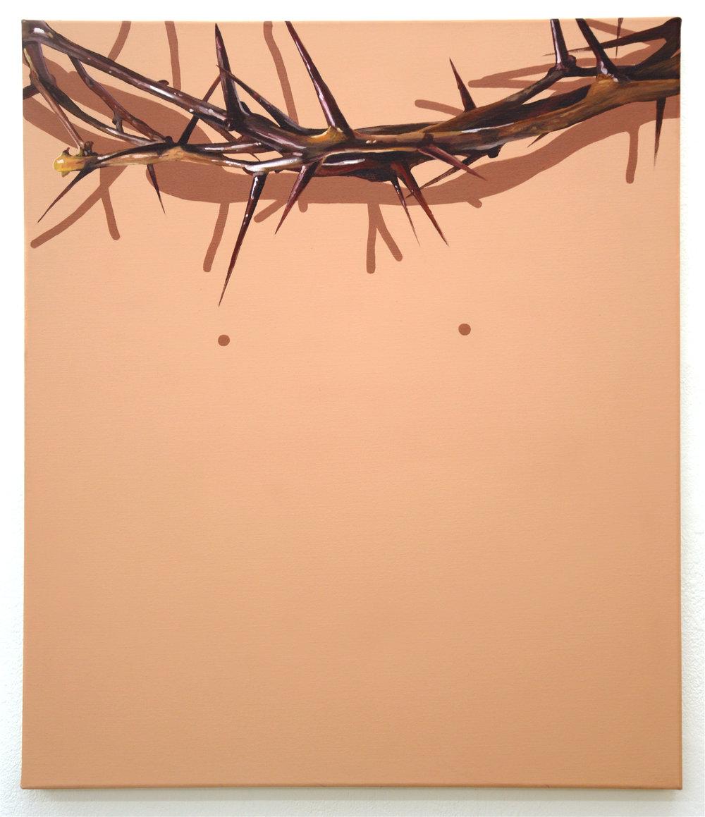 Christ, oil and acrylic on canvas, 60cm x 70cm, 2016