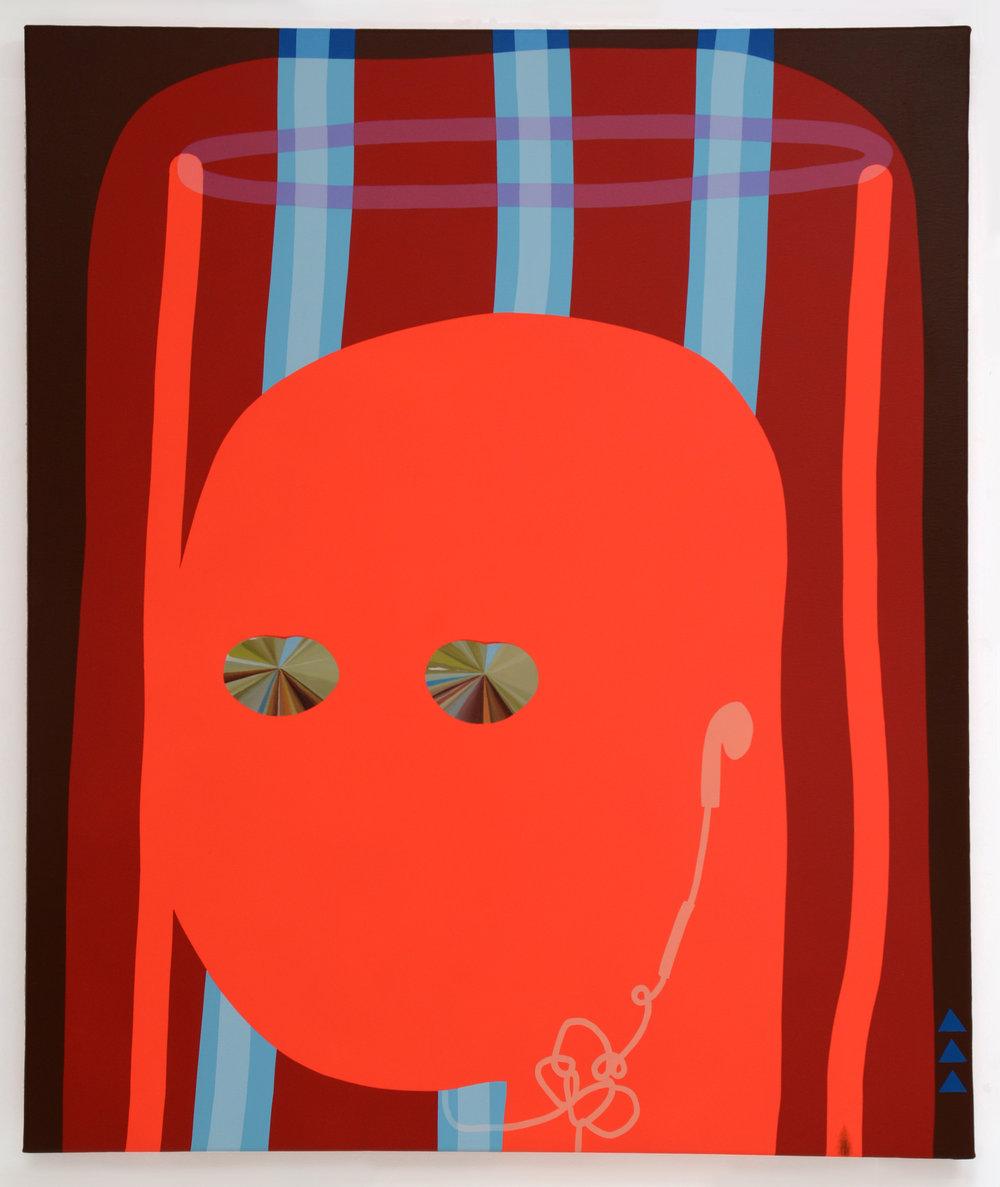Sun Angel 3000, oil acrylic and spray paint on canvas, 81cm x 95cm