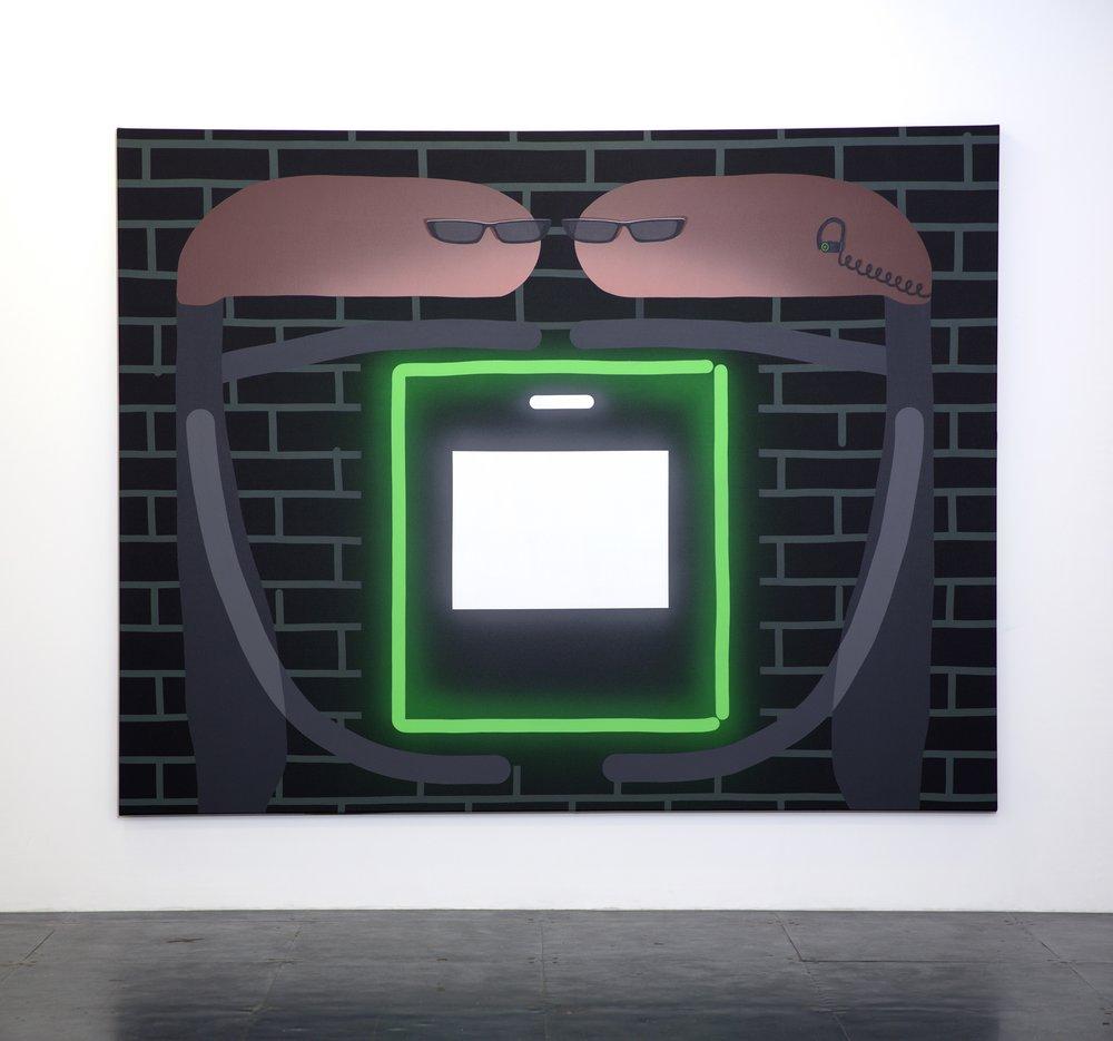 'Security Theft', 2019, oil and acrylic on canvas, 225cm x 175cm