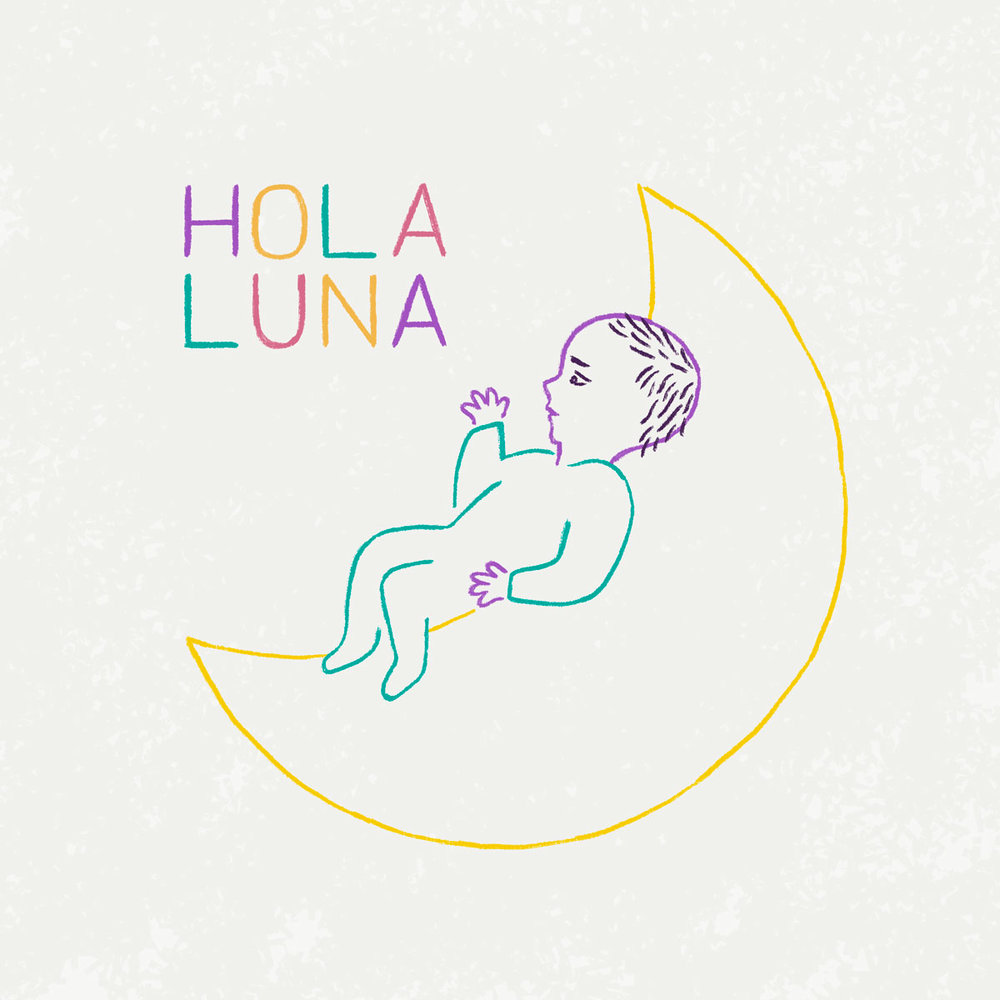 Hola Luna (birth announcement)