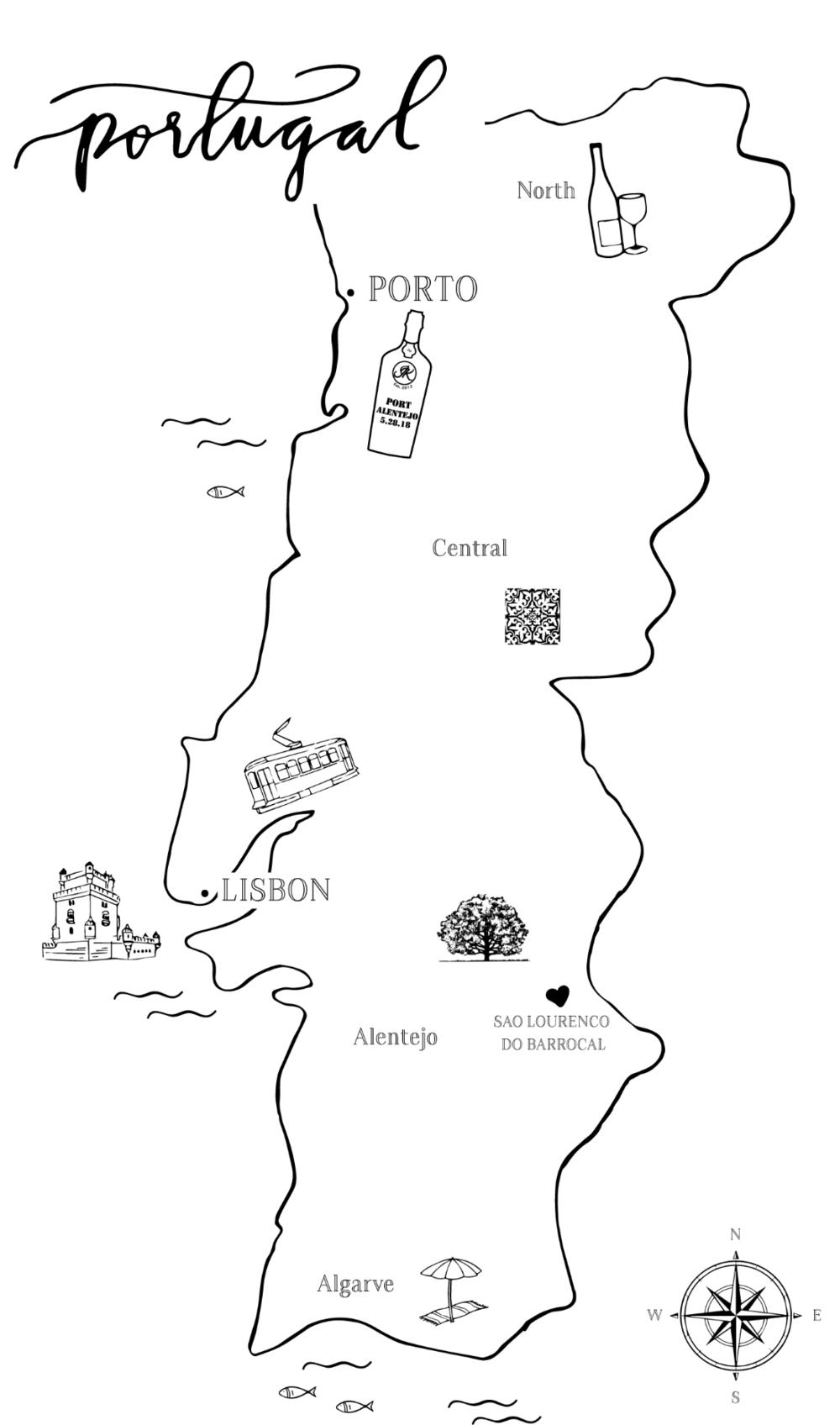 MAP Jonathan Kirsten - Portugal map png