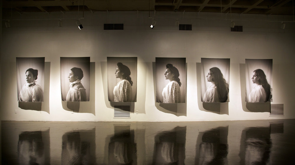 Installation view of What Remains at Southwest School of Art