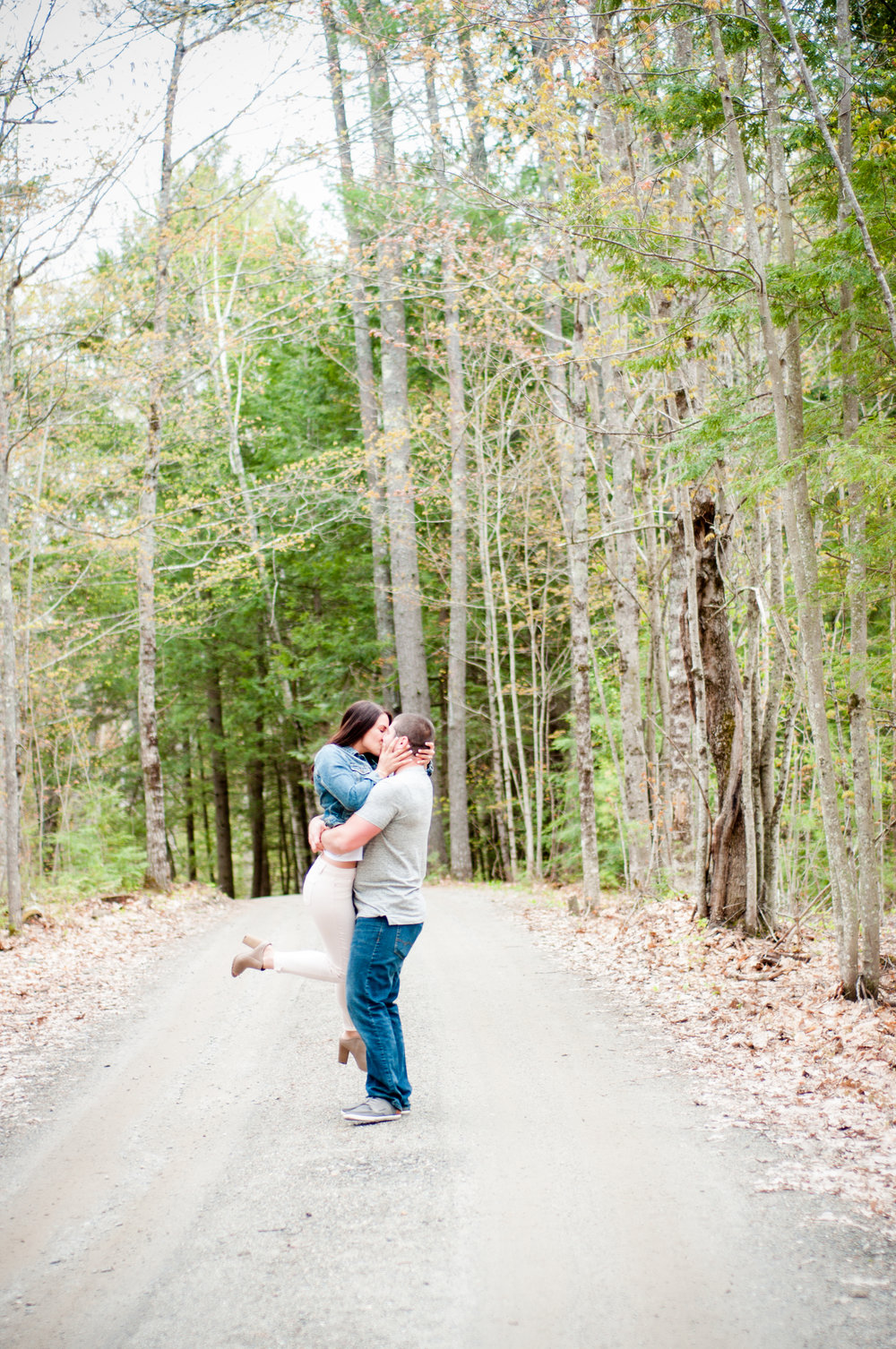 Maine Woodland Engagement Pictures