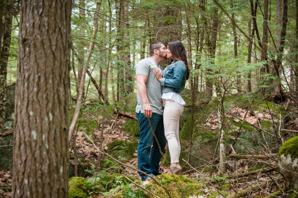 Maine Woodland Rustic Engagement