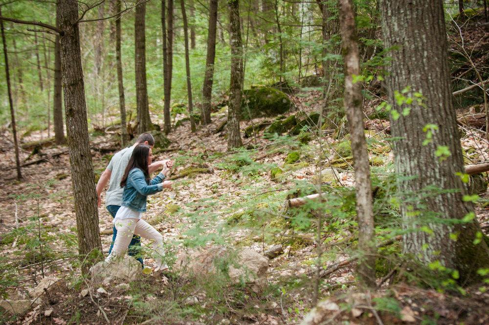 Maine Woodland Engagement Session