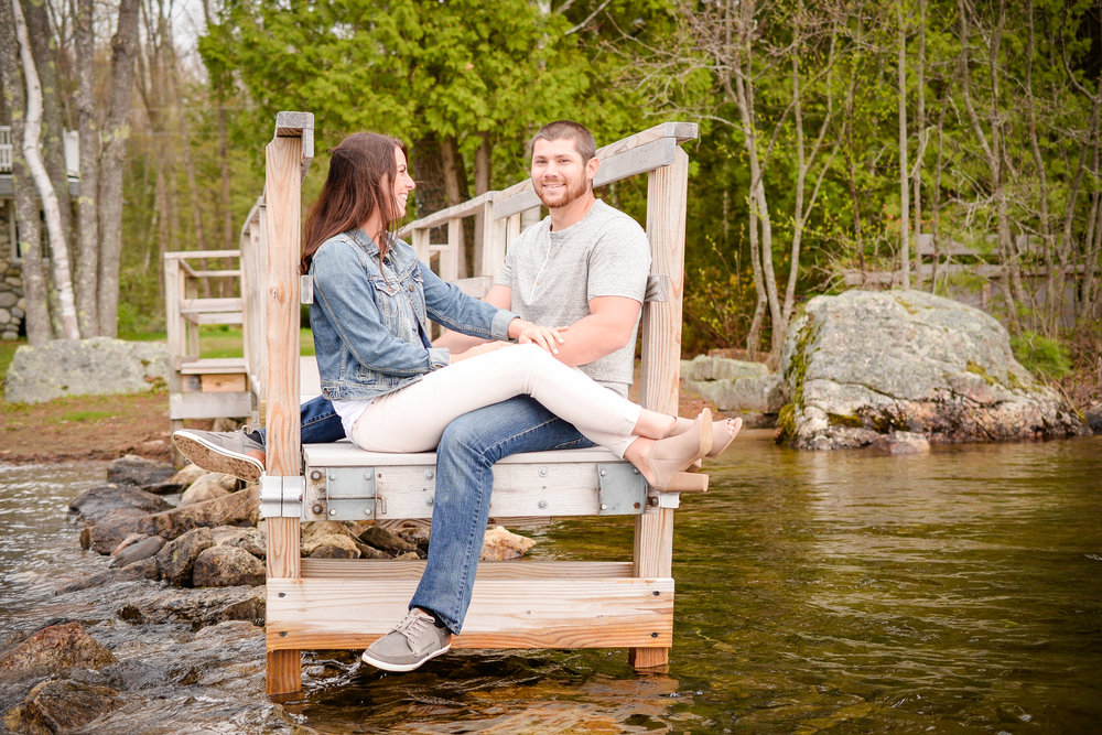 Maine Lakeside Engagement Pictures