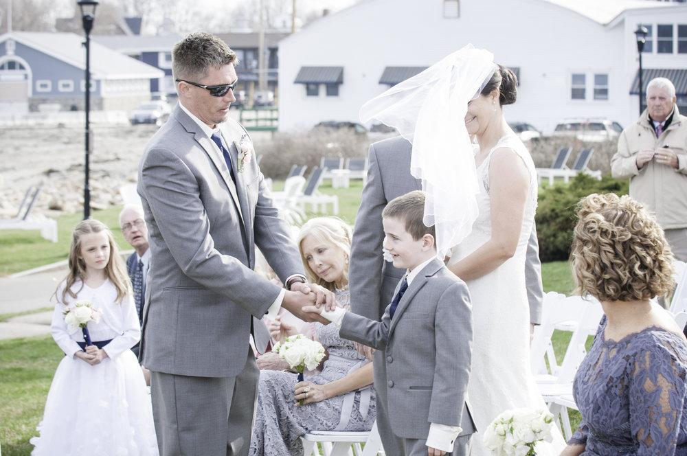 York Beach Maine Wedding Mother Son