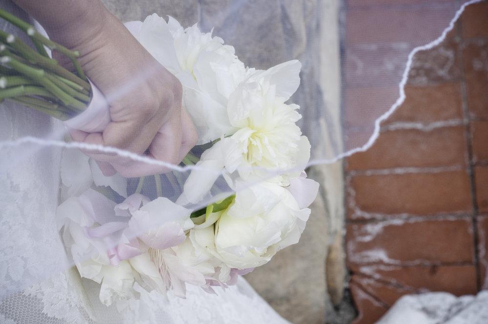 York Beach Maine Wedding.  Peonies Bridal Bouquet