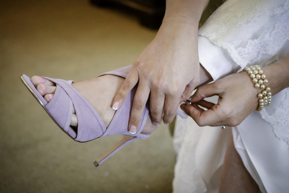 York Beach Maine Wedding Bride Getting Ready  Wedding Shoes
