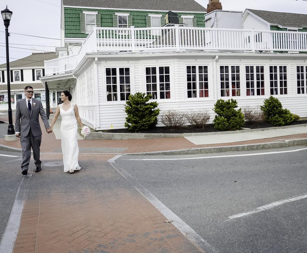 York Beach Maine Wedding  Union Bluff Meeting House  Bride and Groom