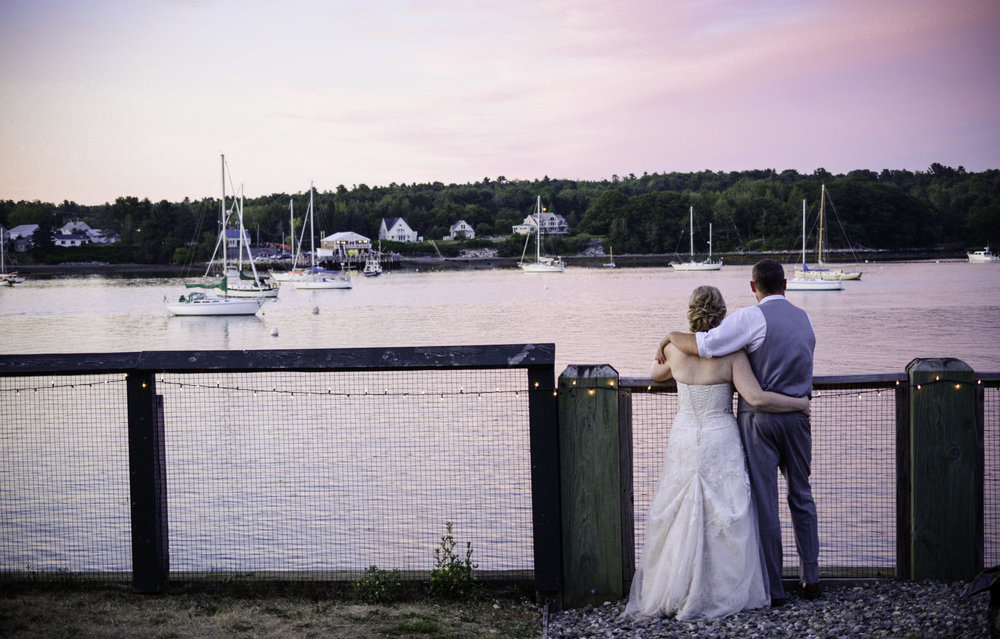 COASTAL MAINE WEDDING SUNSET