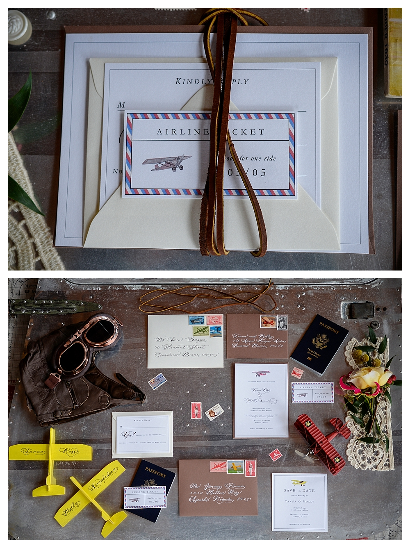 Amelia Earhart Vintage Hangar Wedding Little Ivy Papergoods Margo Dittmer Letter Artist Calligraphy .jpg