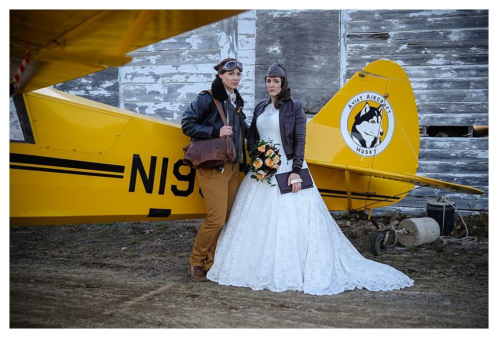AMELIA EARHART VINTAGE HANGAR STYLED WEDDING