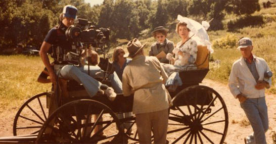 Stabilizing a buckboard for Little House on the Prairie in 1978