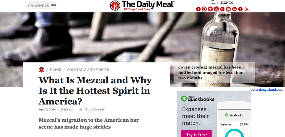 """What Is Mezcal and Why Is It the Hottest Spirit in America?"" - The Daily Meal"