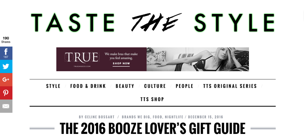 """The 2016 Booze Lover's Gift Guide"" - Taste the Style"