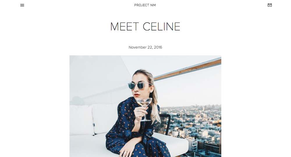 """Meet Céline"" - Project NM"