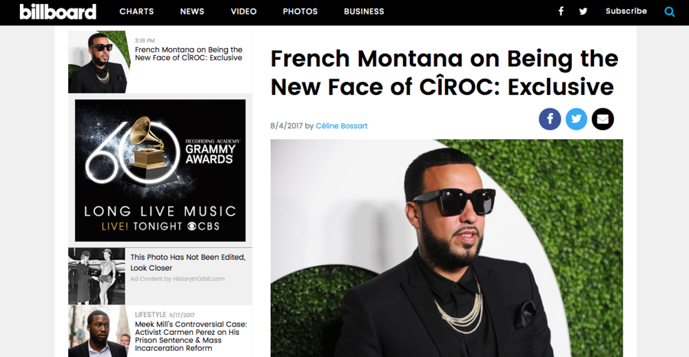 """French Montana on Being the New Face of CÎROC"" - Exclusive Interview, Billboard"
