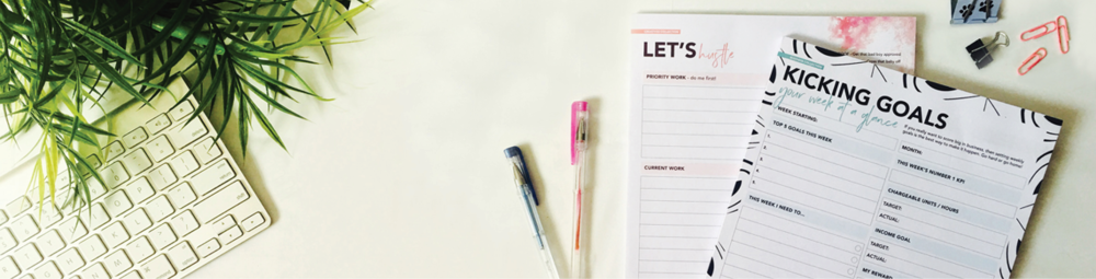 Keep focused + stay productive    WITH SCRIBBLED INK STATIONERY