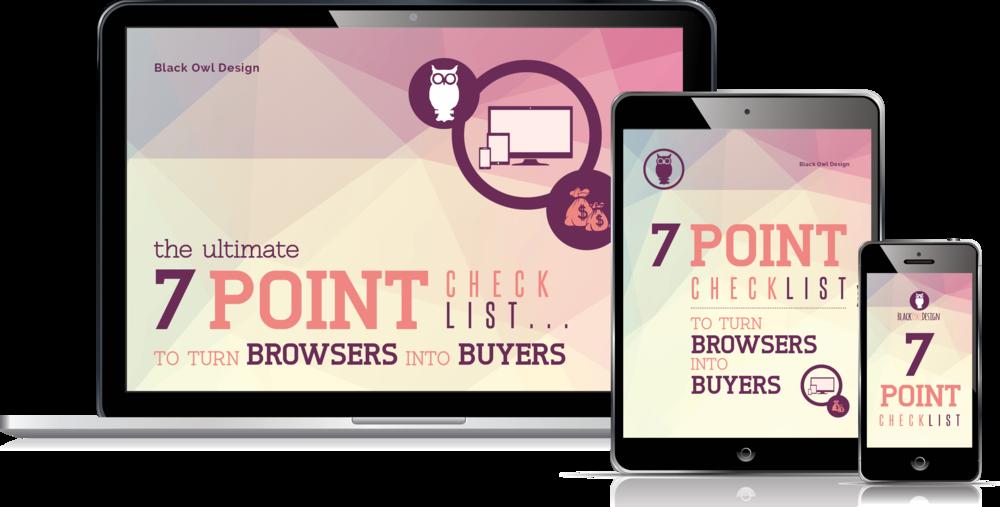 Black Owl Design 7 point checklist
