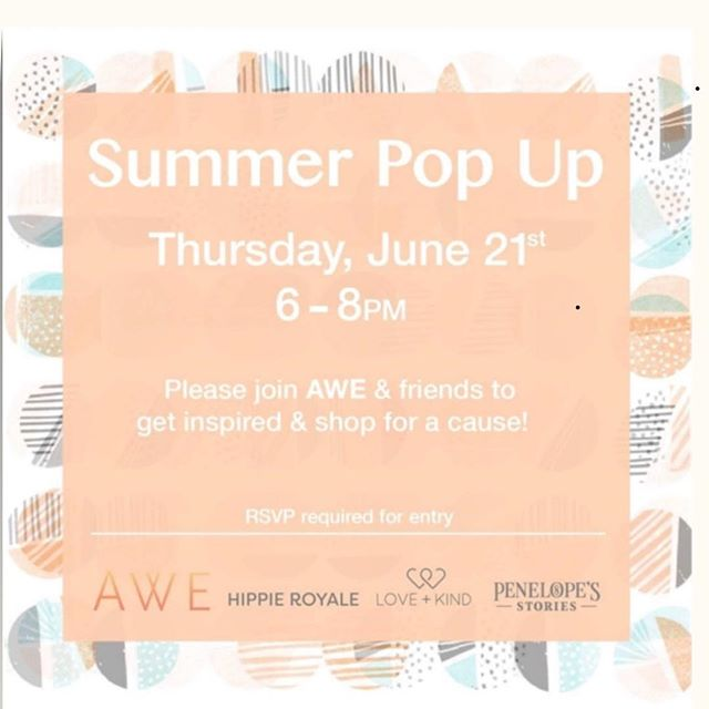 Stop in and shop our Summer collection on June 21 as we partner with @awe_nyc (Awesome Women Entrepreneurs) and our friends at @penelopes_stories and @hippieroyale. Purchases will contribute to various causes.  Please RSVP in link.  #loveandkind #womenempowerment #Tanzania #womensupportingwomen #shopforacause #newyork #fashion #wrapskirt #oneofakind