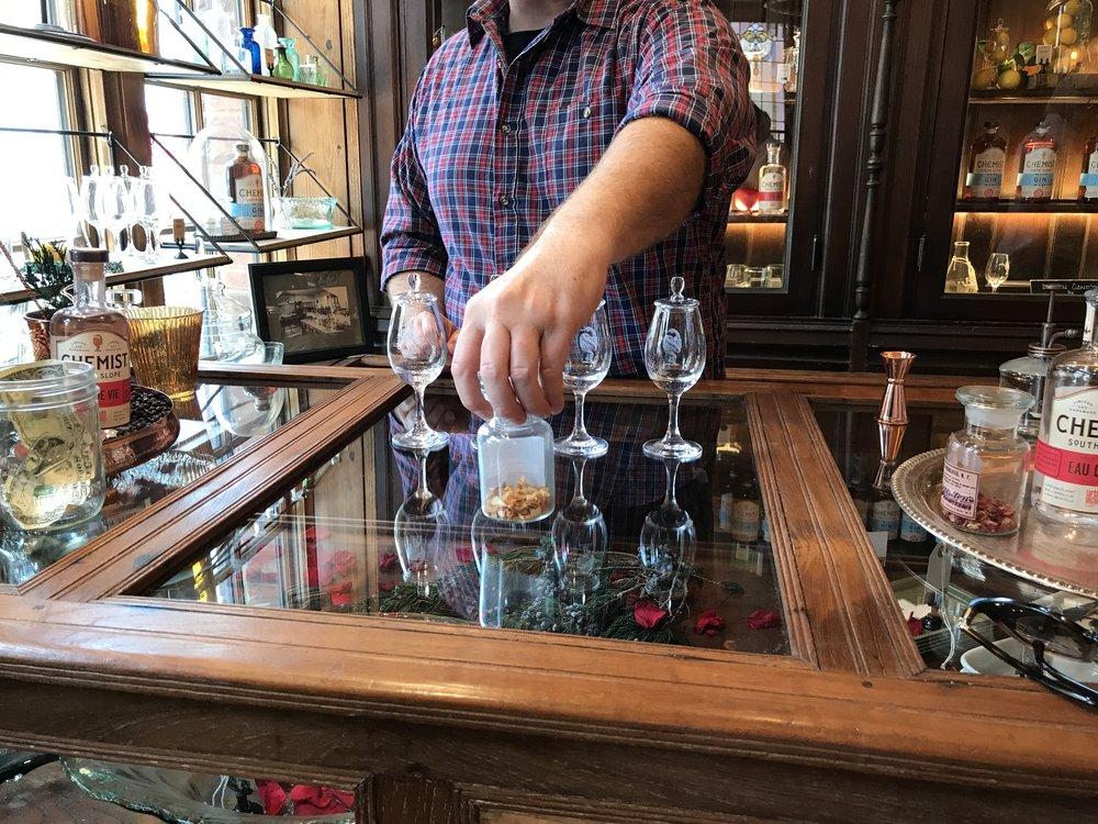 Asheville's newest distillery, The Chemist