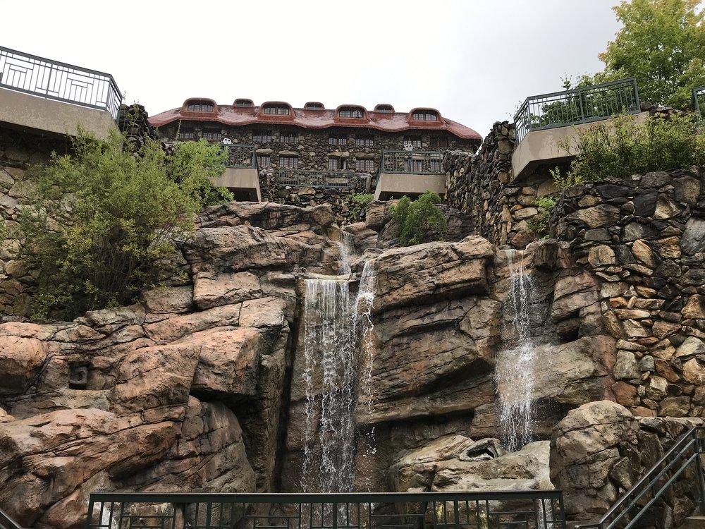 The view from the Omni Grove Park Inn's subterranean spa