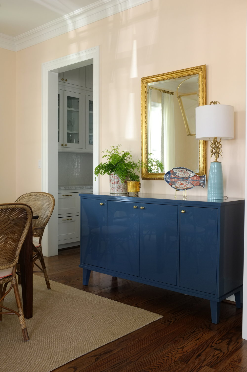 Franklin Sideboard, Oxford Blue Lacquer, 60""