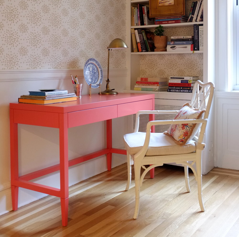 Willow Desk, Cheeky Coral Paint