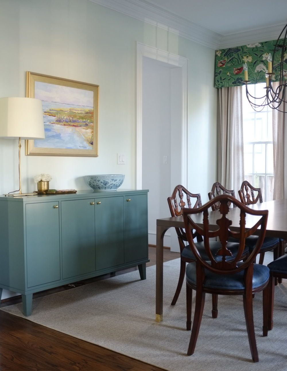 "Franklin Sideboard, Juniper Paint, 60"""