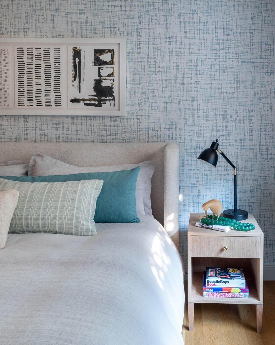 Warren Bedside Table, White Oak, Small