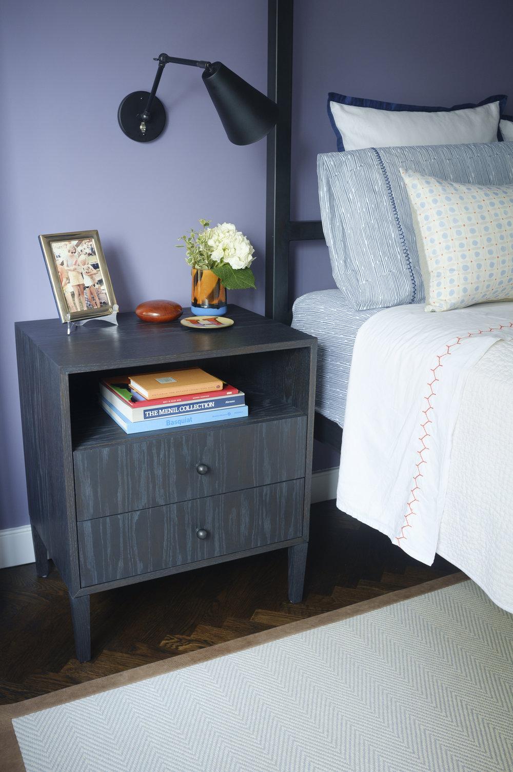 Leonard Bedside Table, Custom Finish, Medium