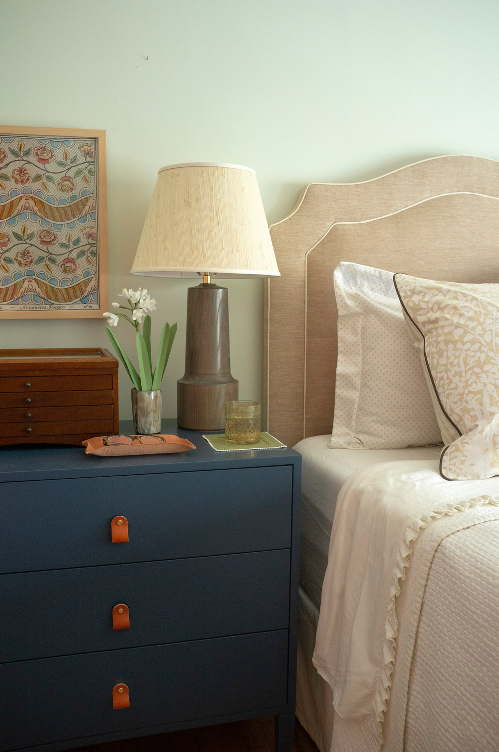 Barrow Bedside Table - Large, Oxford Blue Paint