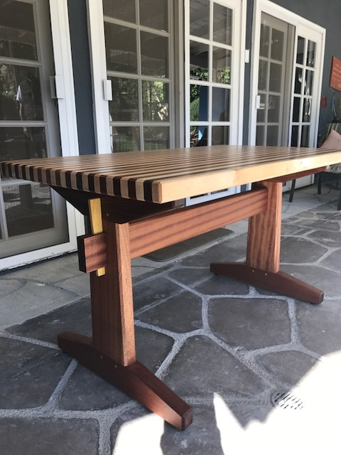 Outdoor table.