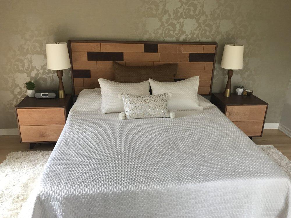 Finished bedroom set.