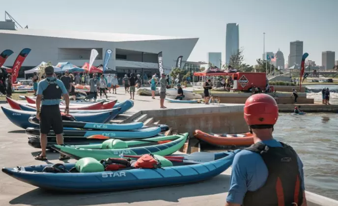 TRY BEFORE YOU BUY - The demo day is central for buyers to be effective. The demo day is held at the state-of-the-art Riversports OKC venue offering whitewater and flatwater. Demo day provides an awesome environment that will be capped off with the industry party.