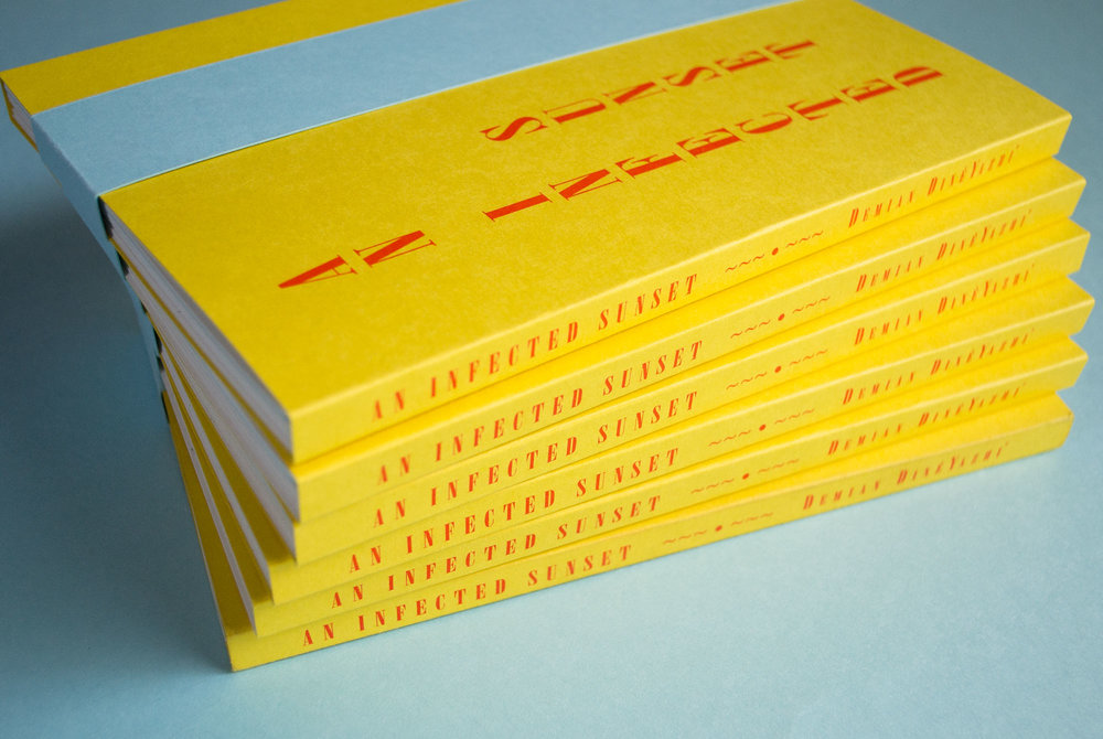 An Infected Sunset risograph book
