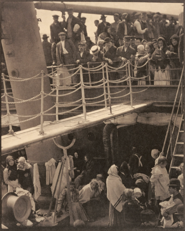 The Steerage  (1907) 19.7 x 15.8 cm  by Alfred Stieglitz  In his book,  Road to Seeing ,  Dan Winters cites  The Steerage  as an early work of artistic modernism that many historians consider to be the most important photograph ever made.