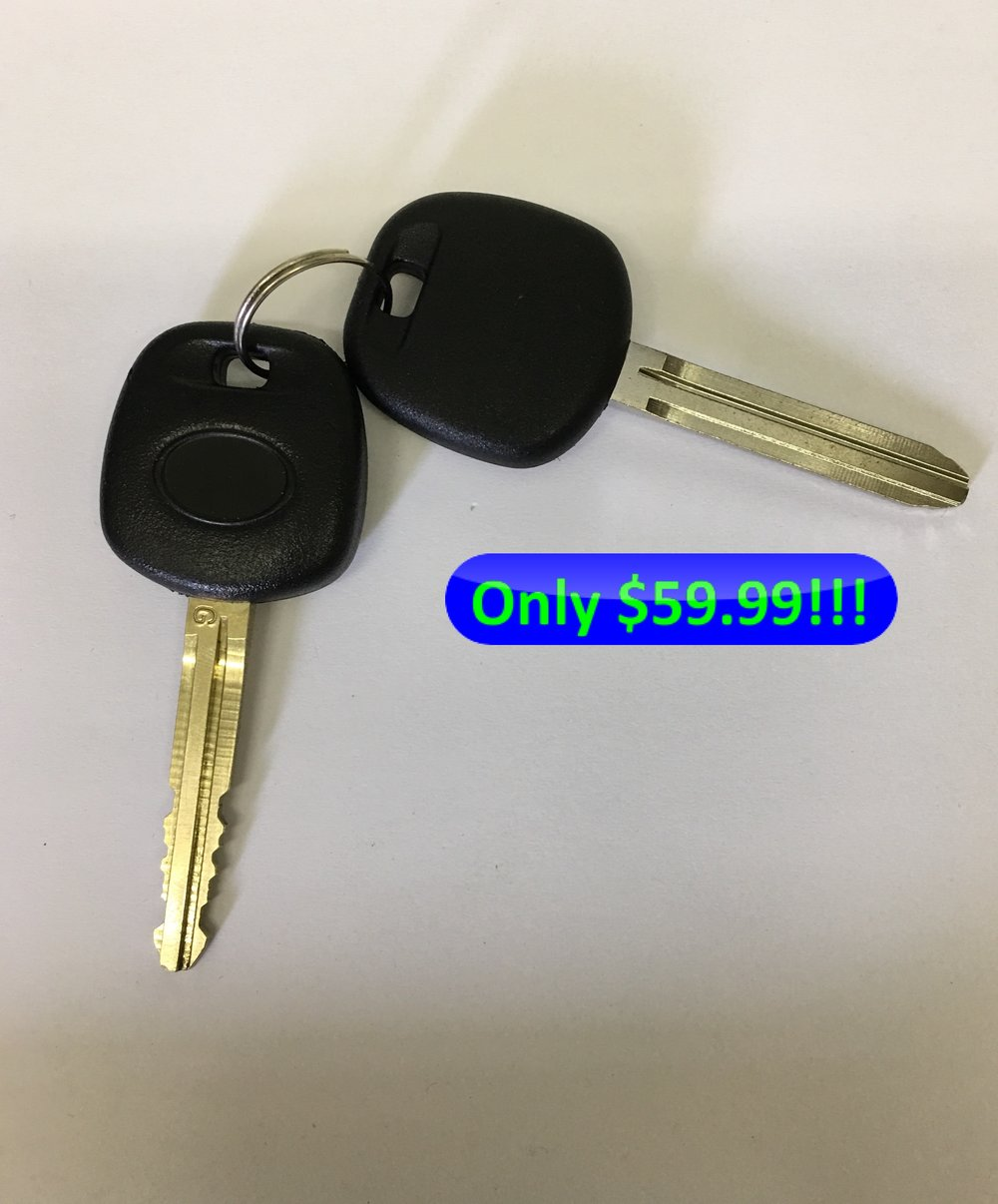 Offer only available at QLP locksmith store located at 4356 Genesee Ave, San Diego, CA 92117. Offer cannot be redeemed with mobile car key service. Offer is subject to only certain vehicle models with specific keys. This offer applies to transponder chip keys and includes programming, not remote keys or push to start key fobs. Offer is subject to California sales tax. Call (858) 231-0248 to See If Your Car Key Qualifies for this Promotion. This promotion ends August 27th, 2017.