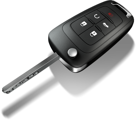 QLP Locksmith San Diego cuts and programs remote keys for Chevy vehicles! This is a transponder key with remote functions for locking and unlocking the vehicle!
