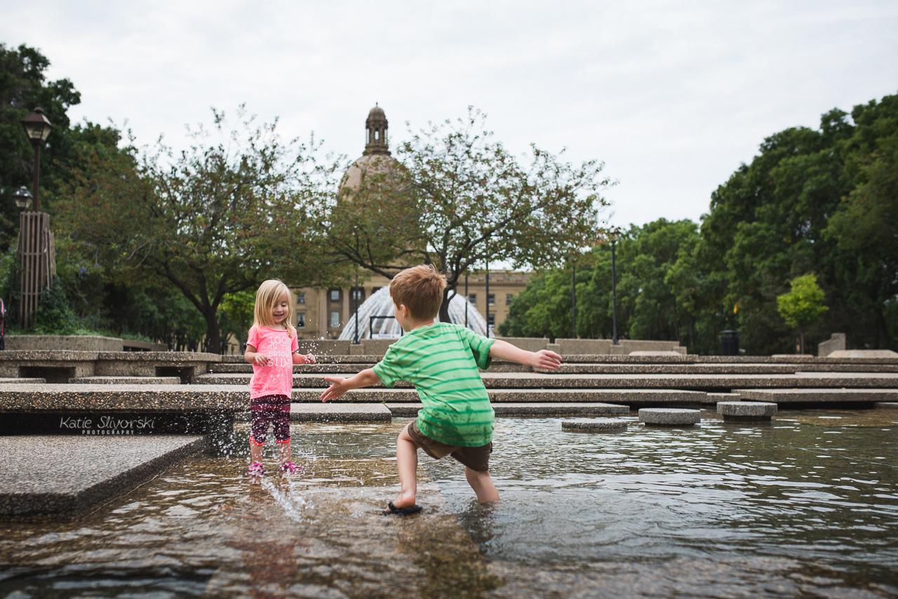 playing at Edmonton Legislature Grounds