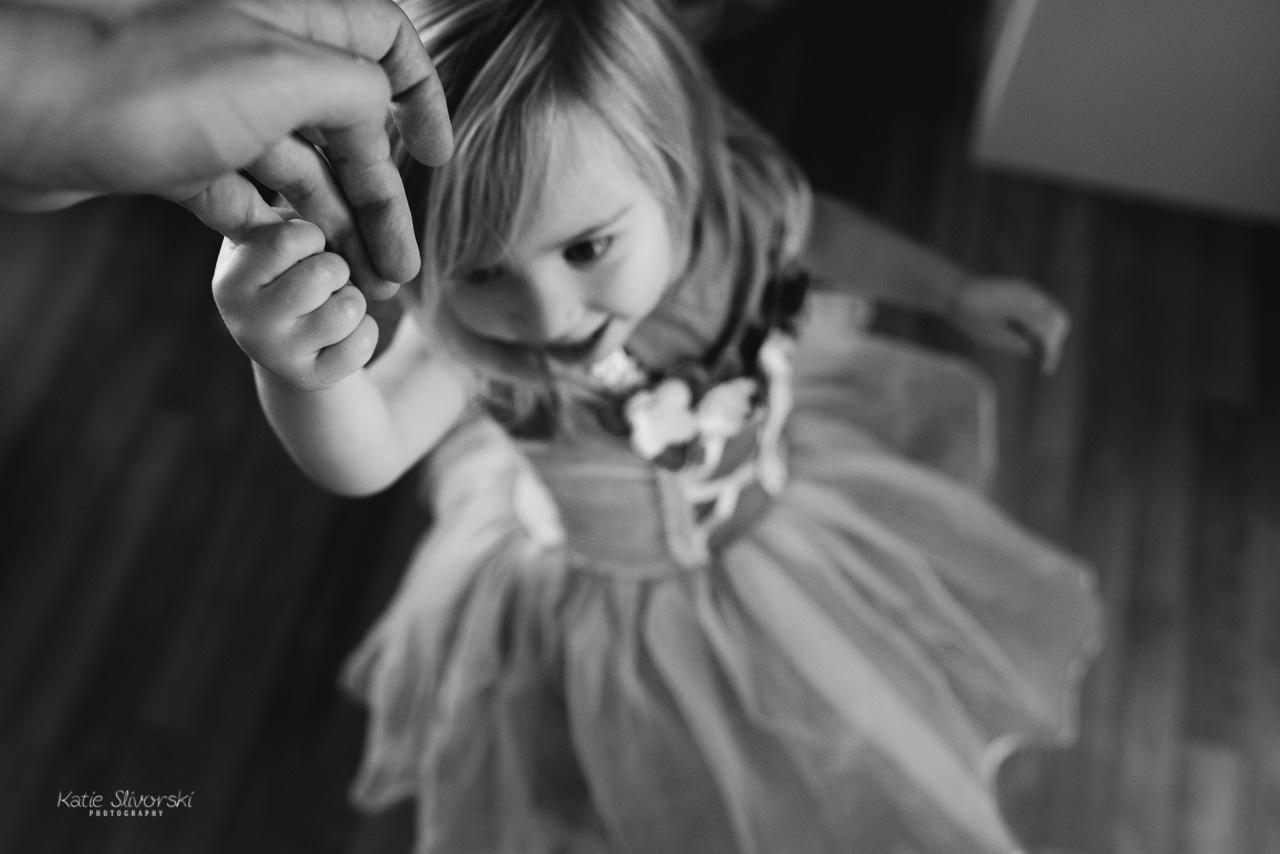child twirling