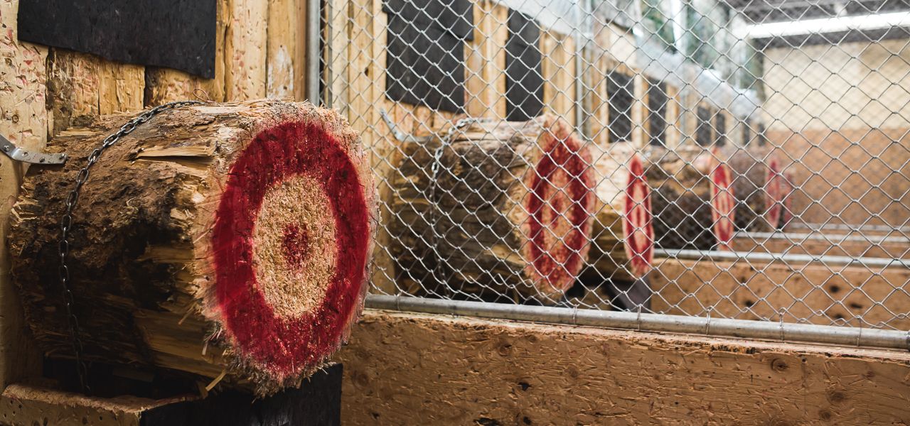logs for axe throwing targets